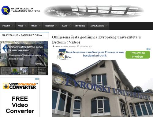 Obilježena šesta godišnjica Evropskog univerziteta u Brčkom ( Video)