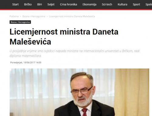 Licemjernost ministra Daneta Maleševića – Otisak.ba